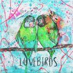 Lovebirds Kunstdruck Hearteliershop.com