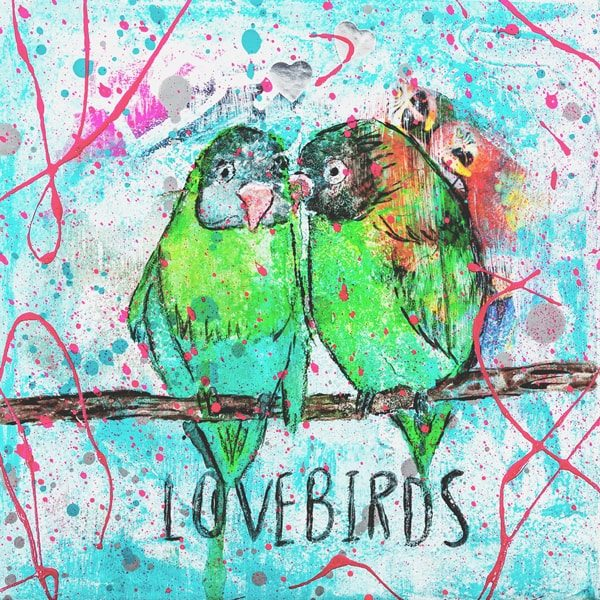 Lovebirds Kunstdruck Hearteliershop.com