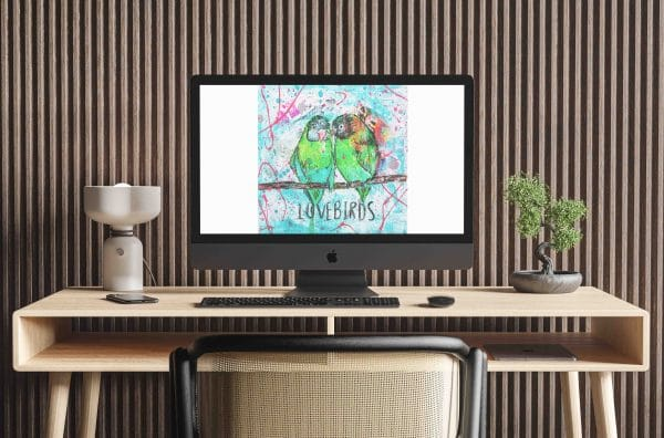 Online Kurs Malen lernen lovebirds